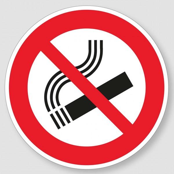 """Aufkleber """"Rauchen verboten"""" in 4 Größen"""