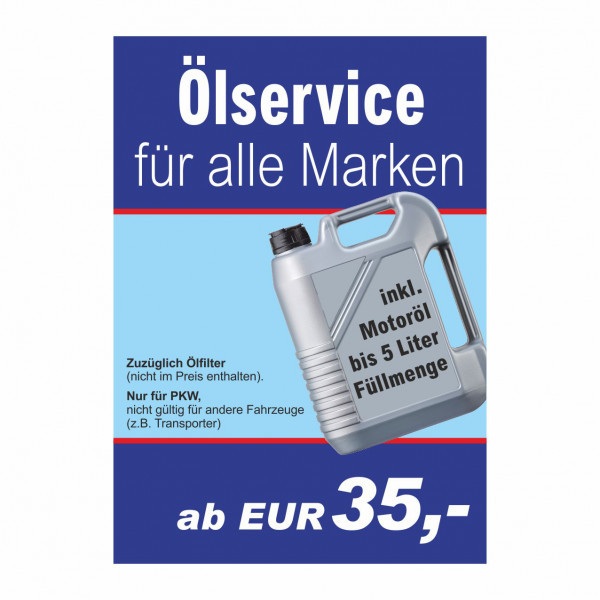 "Plakat DIN A0 ""Ölservice"""