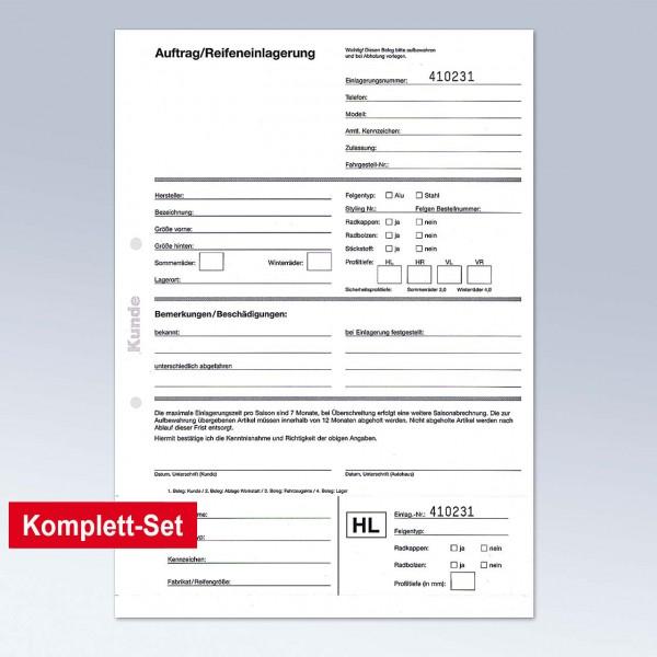 """Formular """"Auftrag-/Rädereinlagerung"""""""