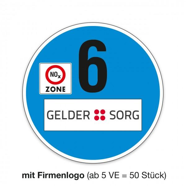 Scheibenaufkleber EURO 6, 300 mm Ø
