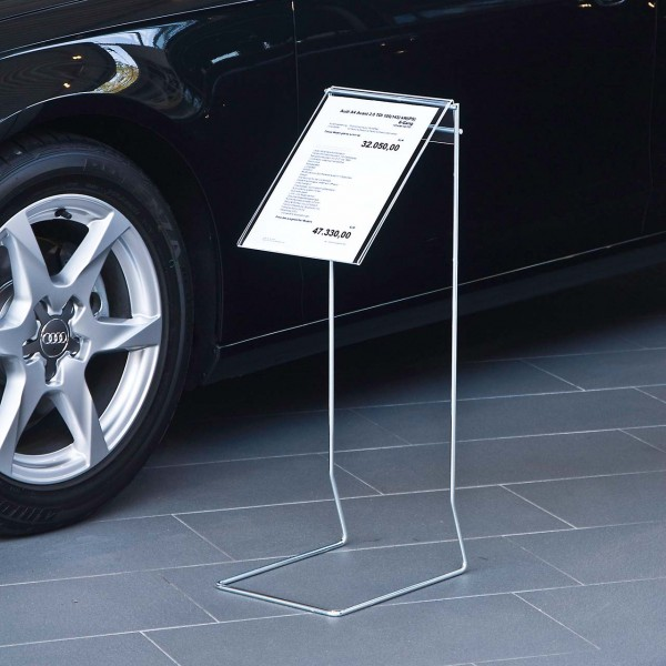 Info-Präsenter mit Acryl-Preisblatthalter DIN A4