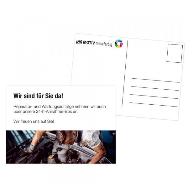 """Postkarten DIN A6 """"Wir freuen uns auf Sie!"""""""