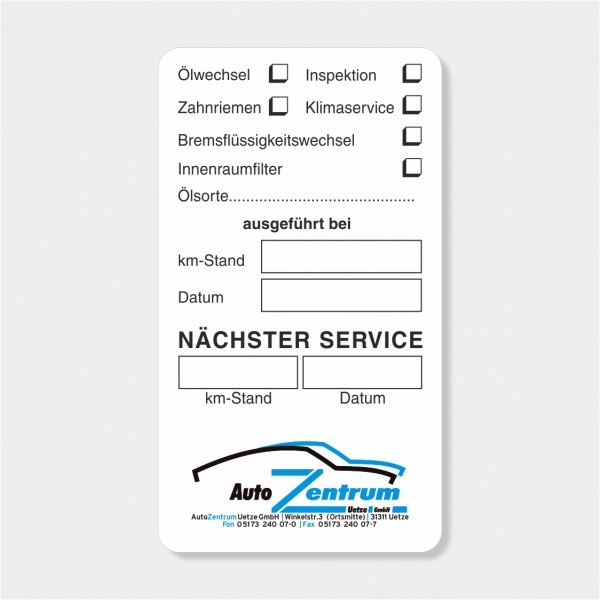 """Service-Aufkleber aus PVC-Folie, Größe: 45 x 80 mm, Motiv """"Services"""""""