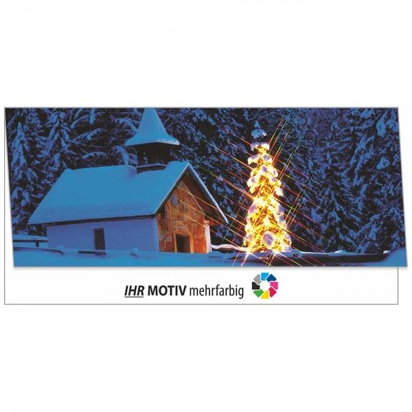 """Weihnachts-Klappkarte, Motiv """"Winternacht"""""""
