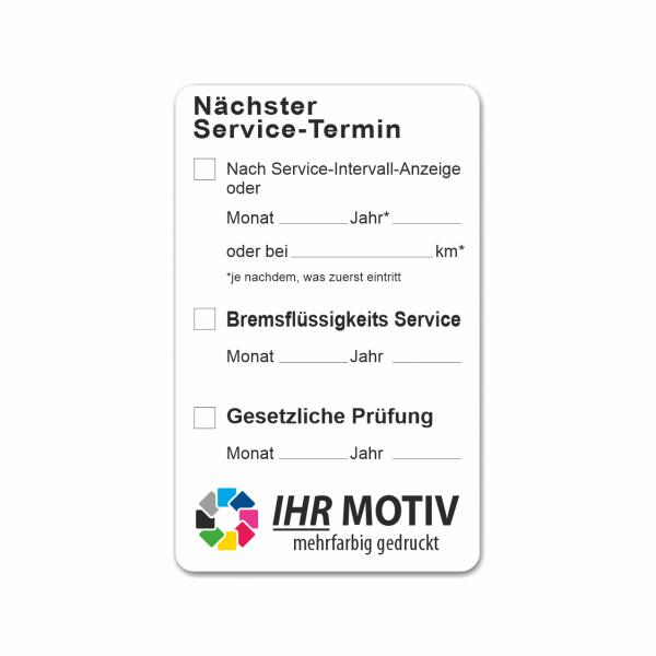 """Service-Aufkleber aus PVC-Folie, Größe: 50 x 80 mm, Motiv """"Service und Prüfung"""""""