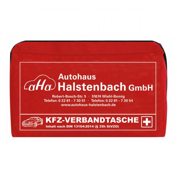 KFZ-Verbandtasche, mit Firmeneindruck