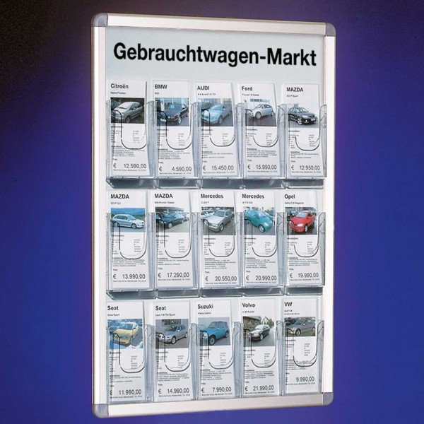 """Wandrahmen-System """"Informato"""" mit 15 Fächern für DINlang Infoblätter"""
