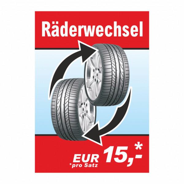"""Plakat DIN A1 """"Räderwechsel"""""""