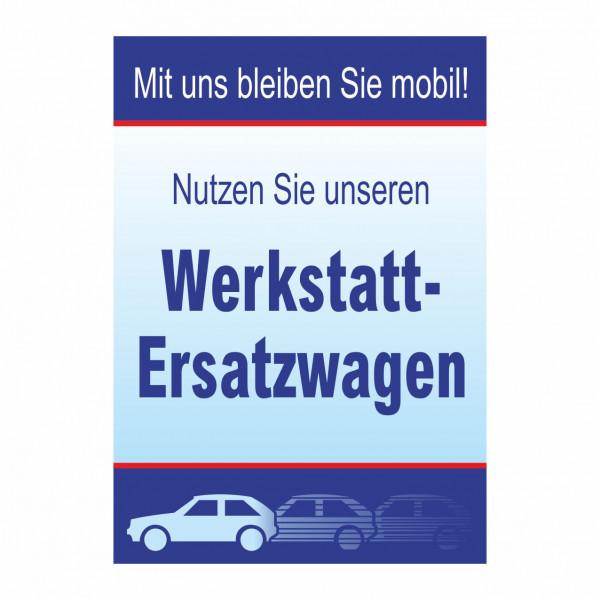 "Plakat DIN A1 ""Werkstatt-Ersatzwagen"""