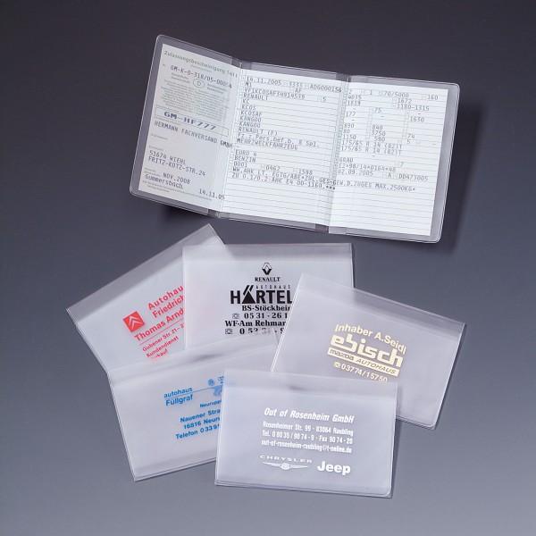 Kfz-Schein-Hülle aus transparenter Spezialfolie