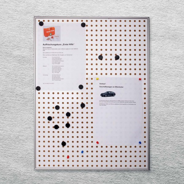 Pinnwand und Magnetboard-Kombination