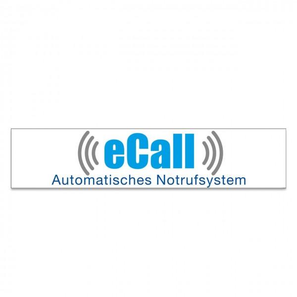 """Scheibenaufkleber """"eCall"""", 650 x 140 mm"""