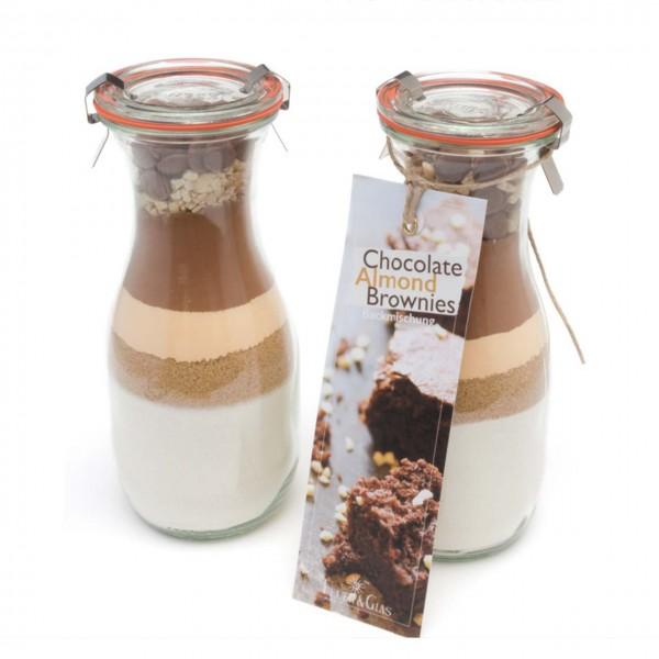 "Backmischung ""Chocolate-Almond-Brownies"""