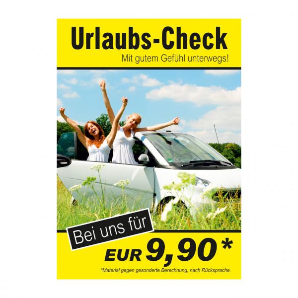 """Plakat DIN A0 """"Urlaubs-Check"""""""
