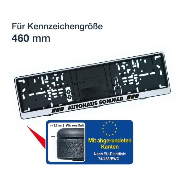Kennzeichenhalter LOGOPLUS, silber, für Kennzeichengröße 460 mm
