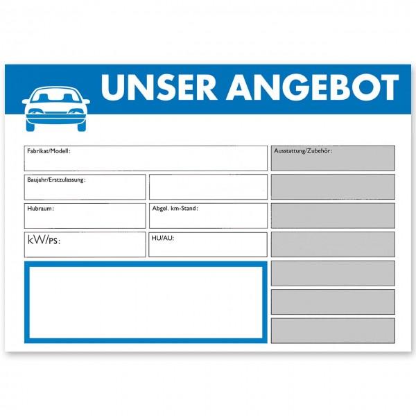 """Verkaufsschild DIN A3 """"UNSER ANGEBOT"""", mit Universal-Preisfeld"""