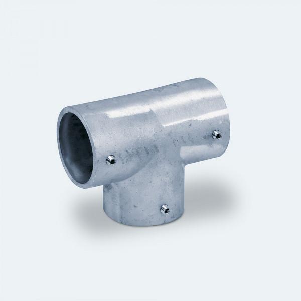 T-Verbinder für Alu-Rohre mit 60 mm Außendurchmesser