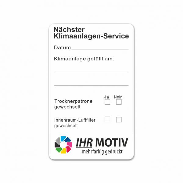 """Service-Aufkleber aus PVC-Folie, Größe: 50 x 80 mm, Motiv """"Klimaanlagen-Service"""""""
