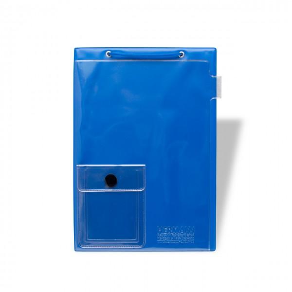 Auftragstaschen DIN A4 mit Kordel und Klett-Verschluss, mit Unterlagen-Fach auf der Vorderseite