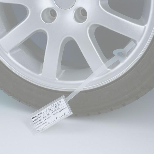 Etiketten für Rad-/Reifenanhänger