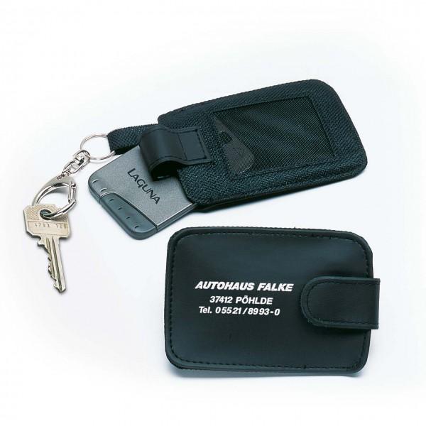 Chipkarten-Schlüsseltasche aus Nylon/Kunstleder
