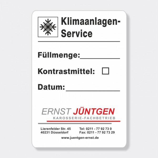 """Service-Aufkleber aus PVC-Folie, Größe: 45 x 65 mm, Motiv """"Klimaanlagen-Service"""""""