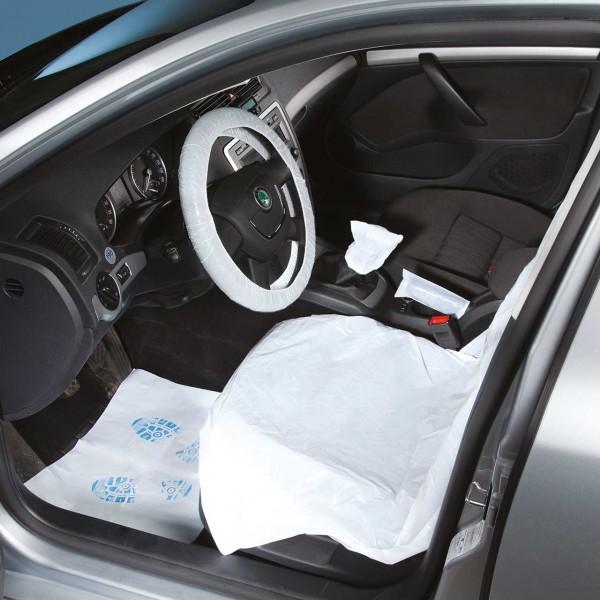 Einweg-Fahrzeugschutz-Artikel-Set PKW, im Umbeutel