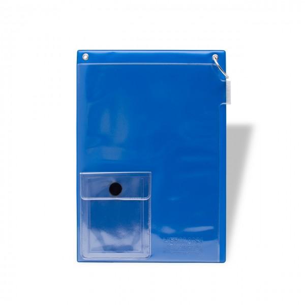 Auftragstaschen DIN A4 mit Klappring und Klett-Verschluss, mit Unterlagen-Fach auf der Vorderseite