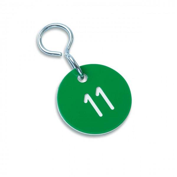 """Zahlenmarken """"Numero"""", Farbe: grün/weiß"""