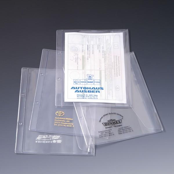 Dokumentenhülle für DIN A5 Formate, mit Firmeneindruck