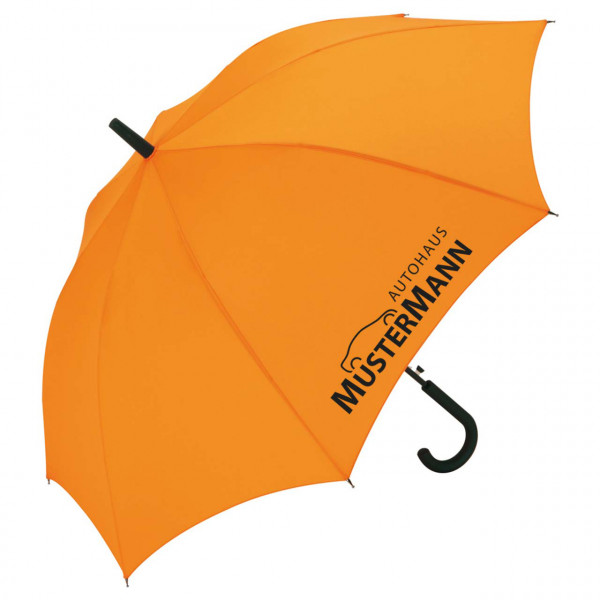 Stockschirm mit Rundhakengriff, orange