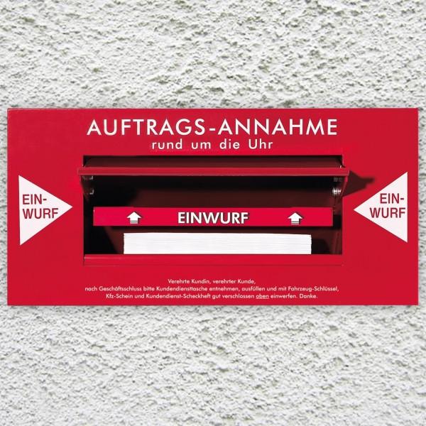 24-Stunden-Annahme-Schacht - ohne Innenbox, mit 50 Kundendienst-Taschen