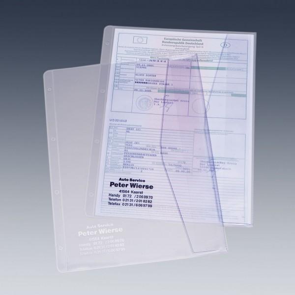 Dokumentenhülle für DIN A4 Formate, mit Firmeneindruck