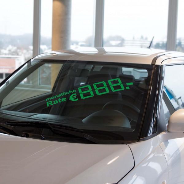 LCD-Ratenpreis, grün