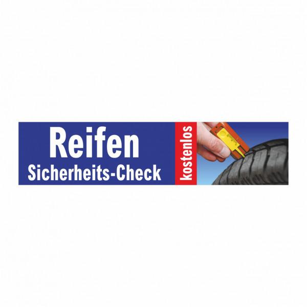 """Werbebanner """"Reifen Sicherheits-Check"""", 300 x 70 cm"""