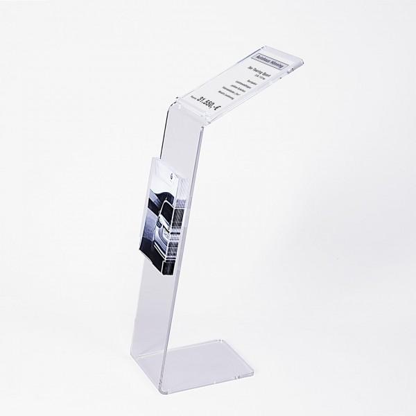 """Info-Präsenter """"Twice"""" mit Preisblatt-Auflage und 1 Prospektbox"""