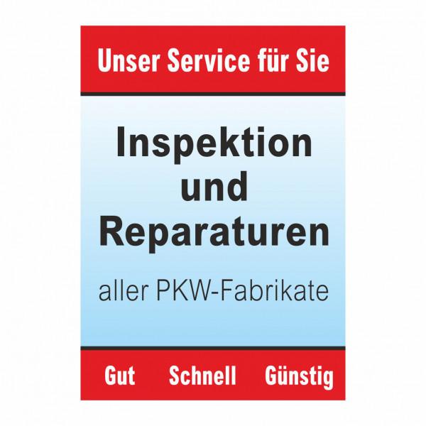 "Plakat DIN A0 ""Inspektion und Reparaturen"""