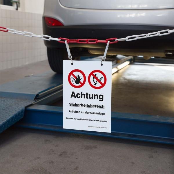 """Kennzeichnungsschild """"Sicherheitsbereich Gasanlage"""""""