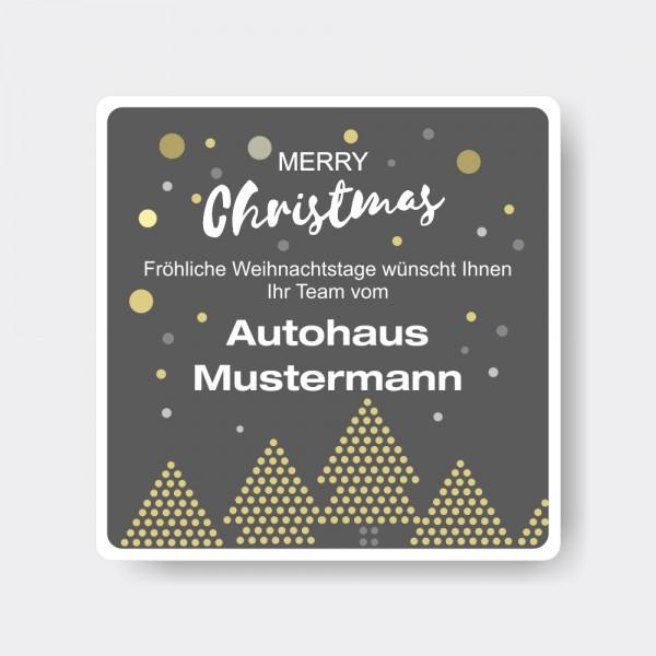 Weihnachts-Aufkleber aus PVC, quadratisch, Motiv 5
