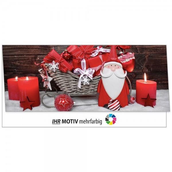 """Weihnachts-Klappkarte, Motiv """"Wichtel"""""""