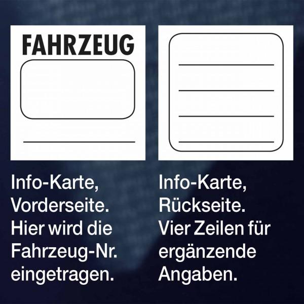 Info-Karten (ohne Taschen) aus Info-Karten-Set