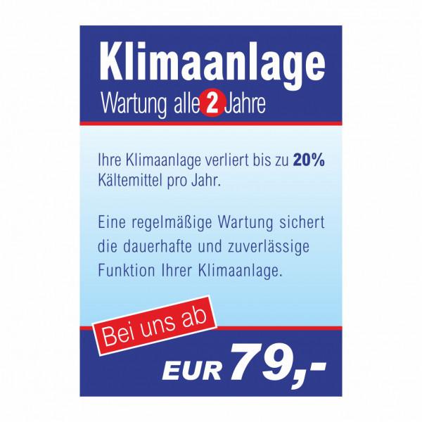 """Plakat DIN A0 """"Klimaanlagen-Wartung"""""""