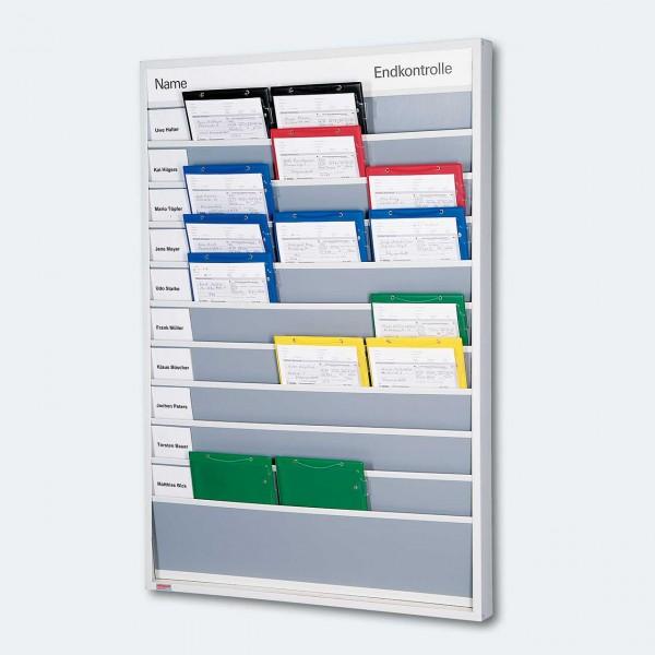 Plantafel aus robustem Kunststoff für DIN A4 Auftragstaschen und -Formulare