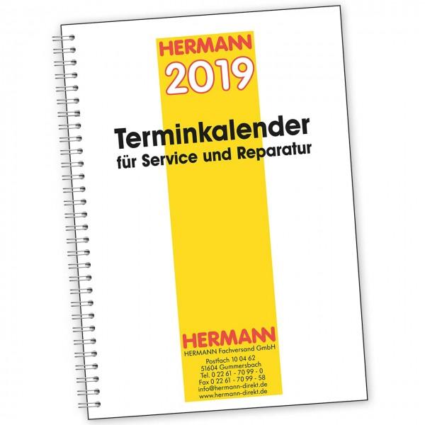 Terminkalender für Service und Reparatur - mit Datumangabe