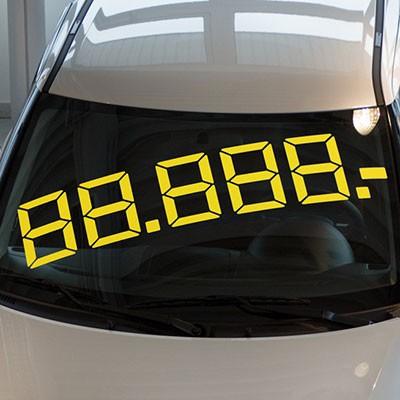 LCD Maxipreis, gelb