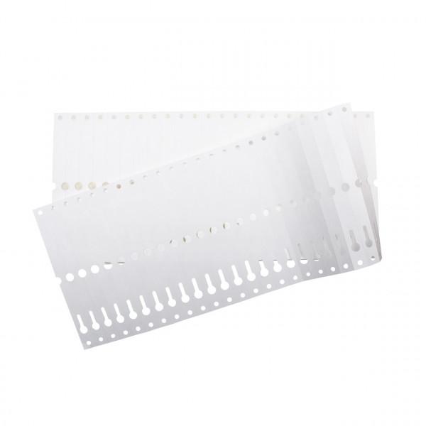 Schlaufenetiketten kurz, Format: 140 x 13 mm