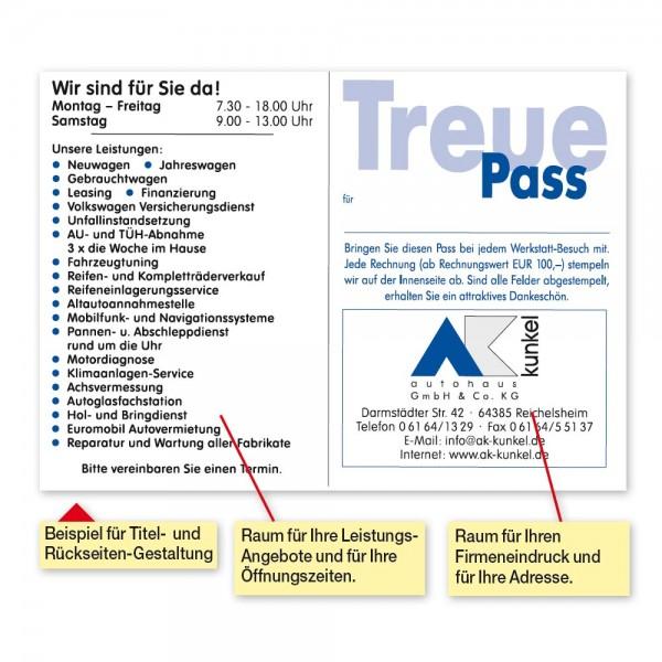 Treue-Pass, Textmotiv