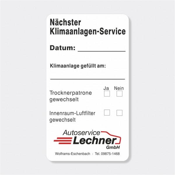 """Service-Aufkleber aus PVC-Folie, Größe: 45 x 80 mm, Motiv """"Klimaanlagen-Service"""""""
