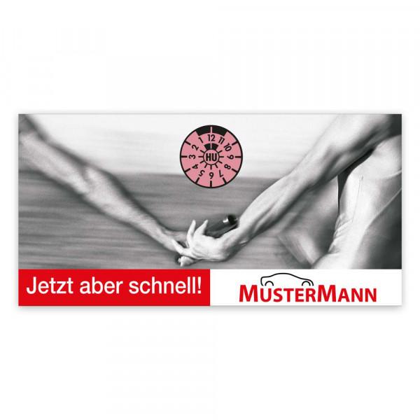 "Maxi-Postkarte ""HU/AU-Erinnerung"", Motiv: Staffellauf"