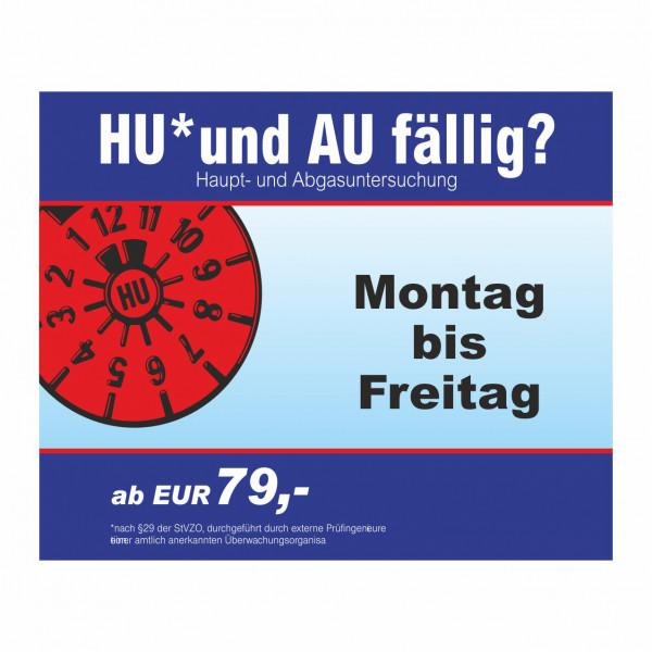 """Werbebanner """"HU und AU"""", 274 x 174 cm"""